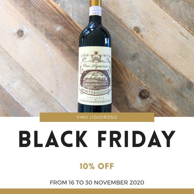 Black Friday & Cyber Monday - Vino Liquoroso